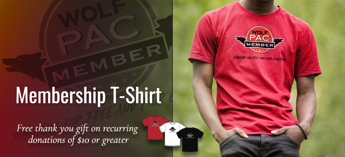 Get a free tshirt with a ten dollar or higher monthly donation