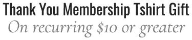 membership t-shirt on $10 or more